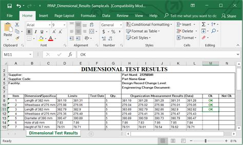 Ppap Documents Excel Pdf Format Download Exle Template Unlocked Sheets And Cells Guthrie Ppap Excel Template