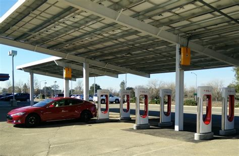 charging tesla with solar panels update tesla s solar powered supercharger store