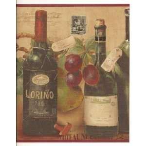 wallpaper border tuscan grapevine grapes watercolor on popscreen