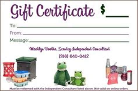 Scentsy Gift Card Template by 1000 Images About Scentsy Gift Certificates On