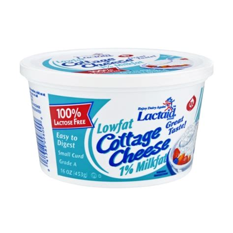 lactose free cottage cheese brands lactaid lowfat 1 milkfat cottage cheese 16 oz prestofresh