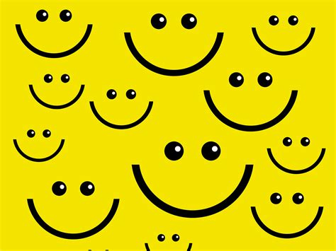 Smile Face PPT Backgrounds   Black, Design, Yellow