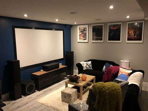 elac debut  home theater basement incomplete