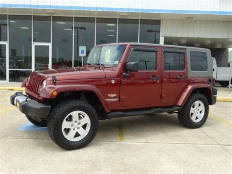 jeep sahara maroon 2010 jeep wrangler sahara unlimited autos post