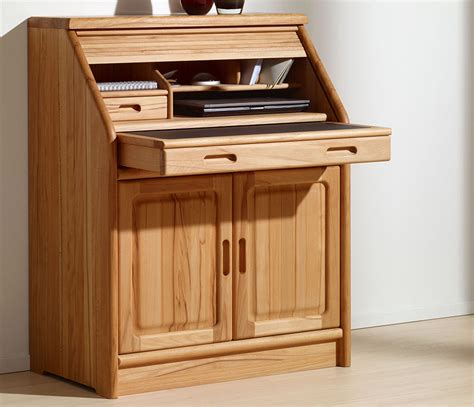 Fine Home Office Furniture Solid Wood Wharfside Danish Office Bureau