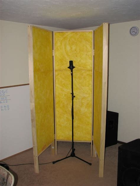 diy gobo vocal booth studio ideas pinterest