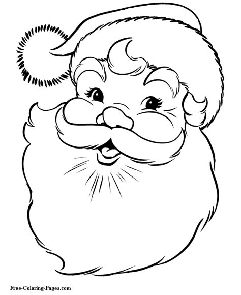 santa coloring pages simple free coloring pages for adults christmas color online