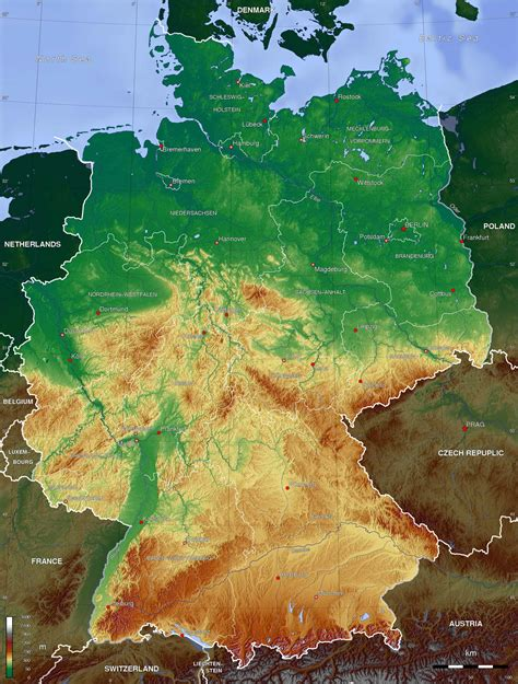 topographic map germany germany topo map mapsof net