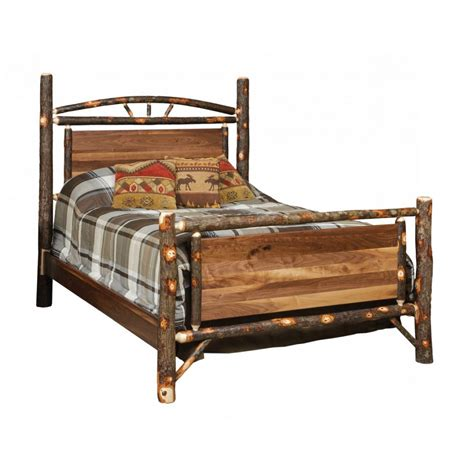 rustic futon beds rustic inset panel bed amish crafted furniture