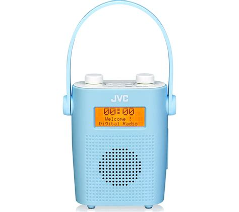 Bathroom Accessories Radio Jvc Ra D11 A Portable Dab Fm Bathroom Clock Radio Blue
