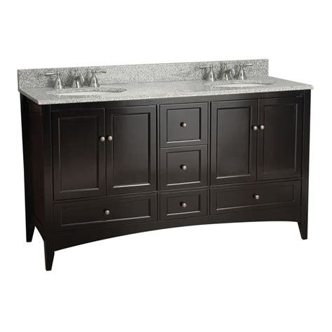 foremost beca6021d espresso berkshire bathroom vanity 60