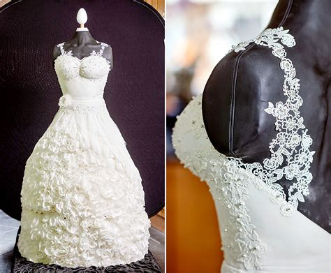 Wedding Dress Wedding Cake by Stunning Wedding Dress Cake Is 165 Pounds And Edible