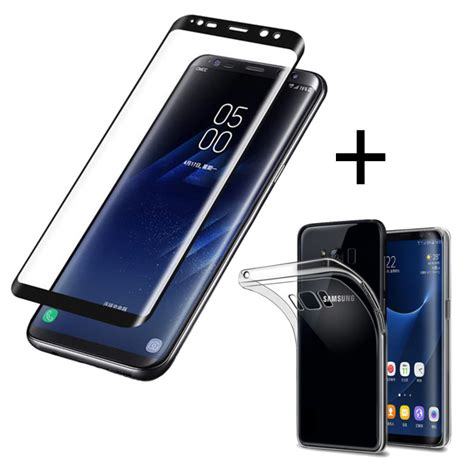 Tempered Glass Depan Belakang Samsung S8 2017 2 In 1 Antigores bakeey 3d curved edge tempered glass with transparent tpu for samsung galaxy s8 plus