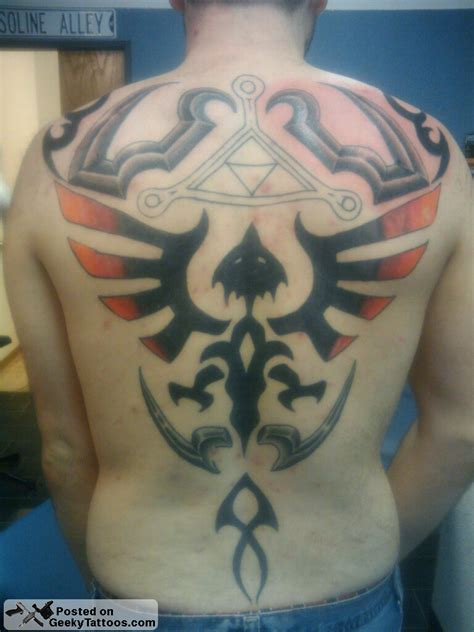 epic tattoos braden s epic triforce back geeky tattoos