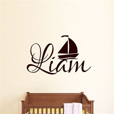 personalized boat name decals wall decals boy personalized name decal vinyl sticker boat