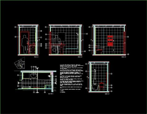autocad section bathroom details dwg section for autocad designscad