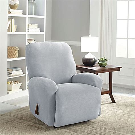 gray recliner slipcover buy perfect fit 174 easy fit recliner slipcover in grey from
