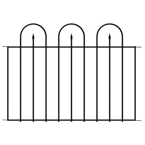 hampton bay westbrook      black steel fence