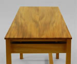 built by dornob a single board solid wood desk design