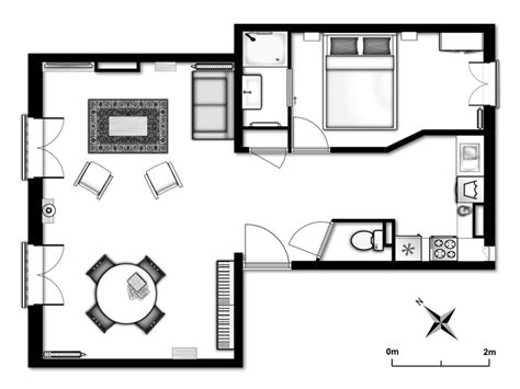 Studio Floorplan by Plan De L Appartement Cesar En Location La D 233 Fense Paris