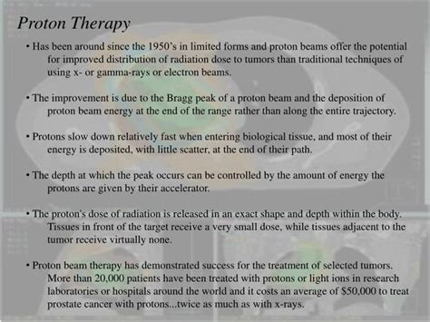 Proton Treatment Prostate Cancer Ppt Radiation Safety Brachytherapy Proton Therapy For