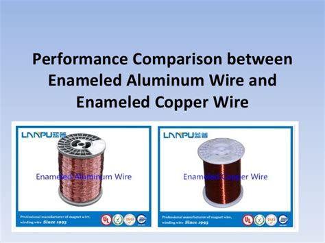 performance comparison between enameled aluminum wire and
