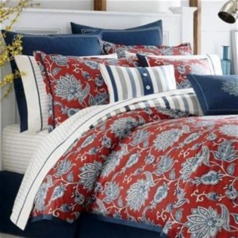 red bandana comforter nautica tisbury queen 5 pc comforter set red white blue