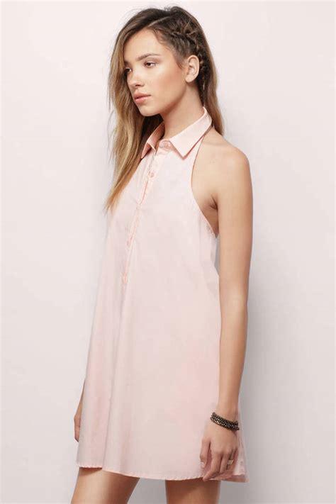 Id 428 Backless Dress backless halter shirt dress 16 tobi us