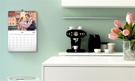 Deal Calendrier Photo Photo Calendrier Personnalis 233 A3 Groupon