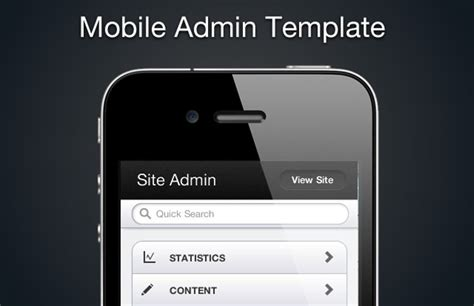 mobile html5 admin template medialoot