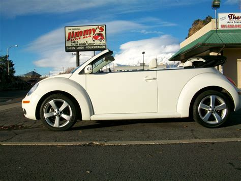 volkswagen convertible white 2007 volkswagen new beetle convertible triple white pzev