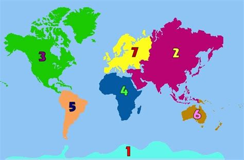 how many colors are there in the world how many continents are there in the world inspirace