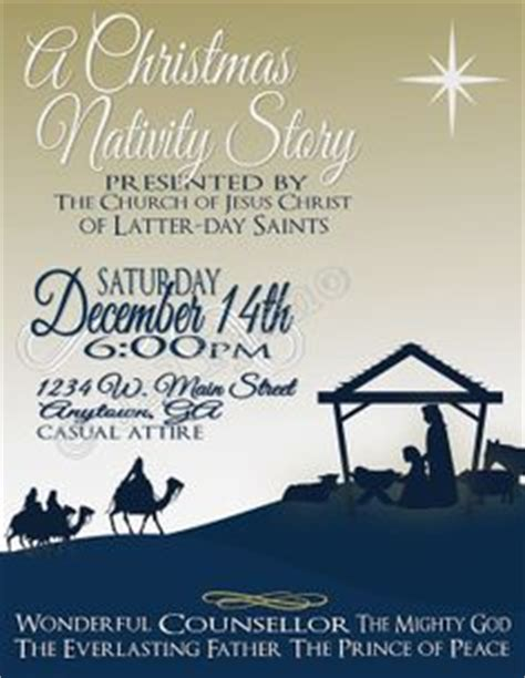 Invitations On Pinterest Bethlehem Flyers And Night In Nativity Flyer Template