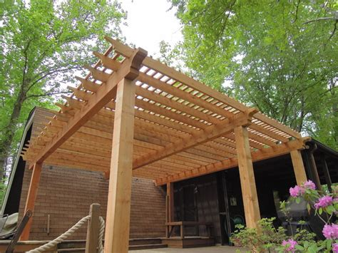 western red cedar pergola lake lorelei oh area rustic