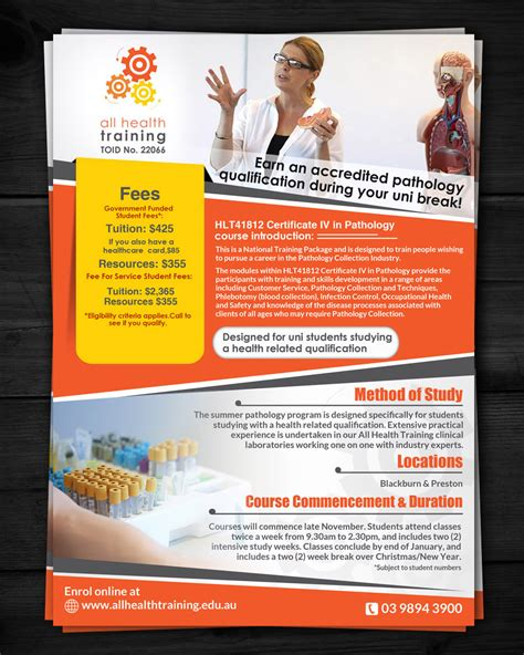 leaflet design courses flyer design for all health training by esolz technologies