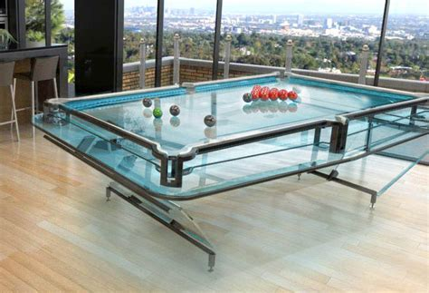 Balls Cues Glass Pool Tables Glass Pool Table