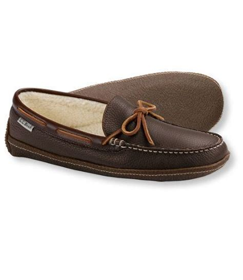 ll bean mens slippers s handsewn slippers fleece lined