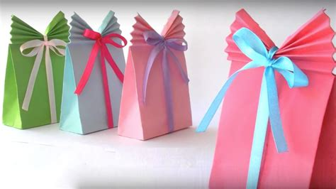 Gift Paper Craft - diy crafts easy paper gift bags in 5 minutes glamrs
