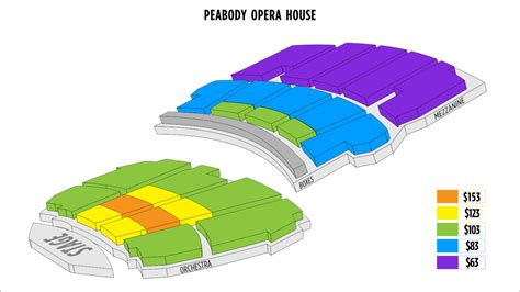 peabody opera house seating chart peabody opera house seating chart