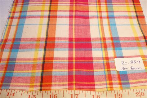Patchwork Madras Fabric - madras fabric madras plaid plaid fabric patchwork