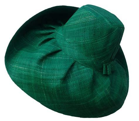 green hats green madagascar raffia sun hat that way hat new