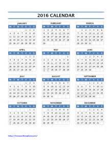 4 Year Calendar Template by 2016 Calendar Templates Freewordtemplates Net