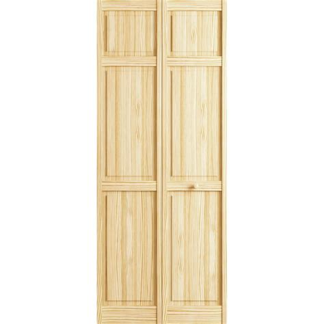 Closet Bi Fold Doors Frameport 36 In X 80 In 6 Panel Pine Unfinished Interior Closet Bi Fold Door 3115160 The