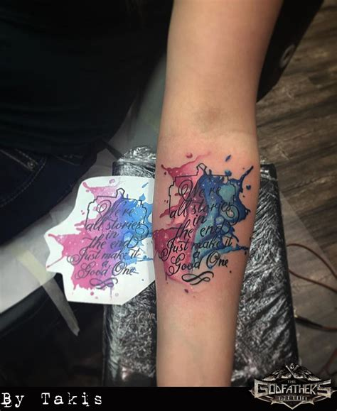 watercolor tattoo writing watercolor aquarell gallery of our tattoos in watercolor