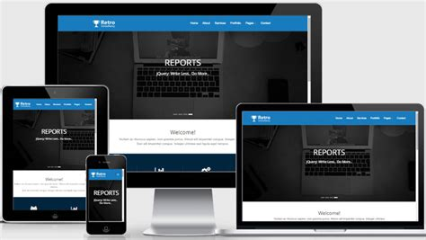most popular free consulting website template webthemez