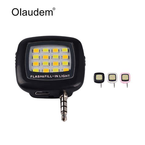 Lu Selfie 16 Led mini 16 led using selfie enhancing dimmable flash light cellphone flash fill in