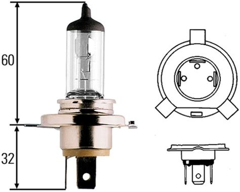 Hla Lighting by Hella Hla H83140101 H4 12v 60 55w Halogen Bulb New Free