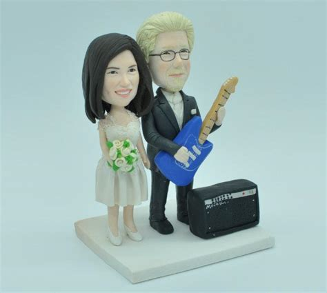 groom with guitar and marshall custom theme wedding cake topper 2440843