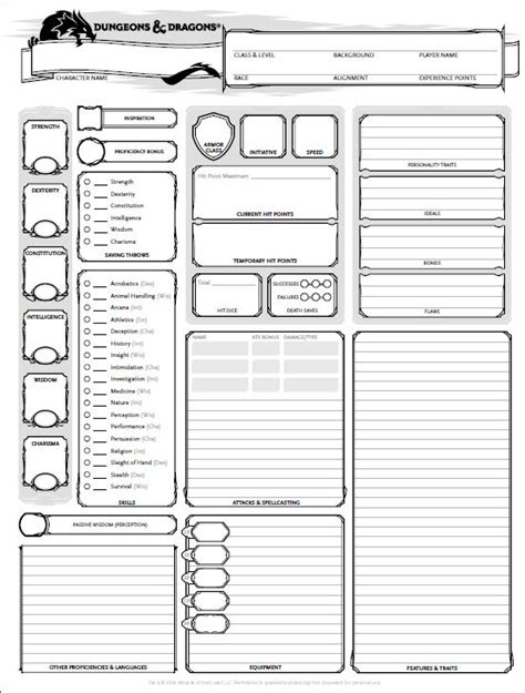 dungeons and dragons templates dungeons and dragons character sheets go search