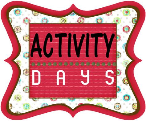 Activity Day On Activity Days activity day binder just b cause